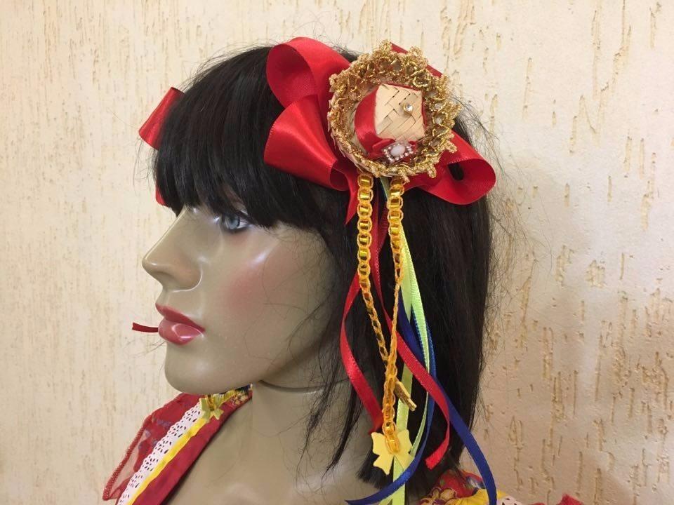 1 par de laços caipira festa junina tiara chapéu de palha. Carregando zoom. ef6a3ec0603