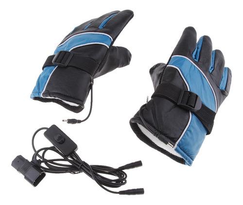 1 par guantes térmicos eléctricos recargables protección