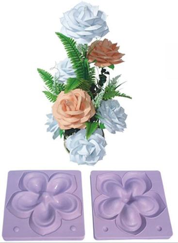 1 par molde rosa gigante p/ flores goma eva y 2 cintas verde