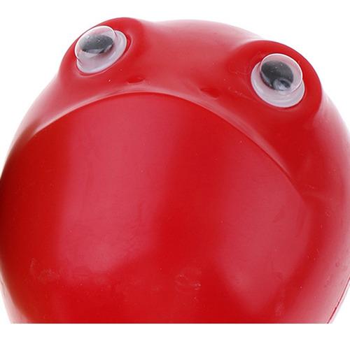 1 par percusión de mano roja de plástico maraca para