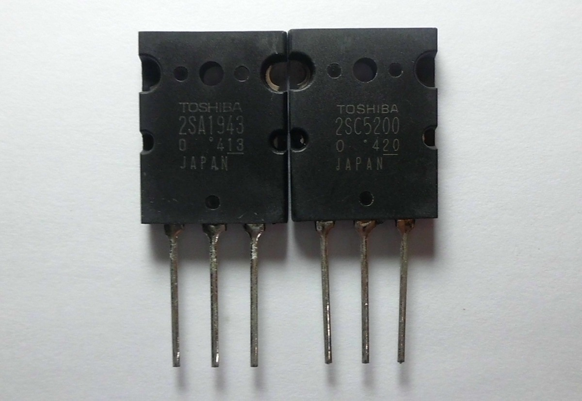 1 Par Transistor Potencia 2sa1943 2sc5200 Toshiba Nuevos