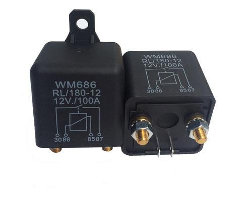 1 pc pesado de alta corriente de 12 v cc 100a amp 2.4w