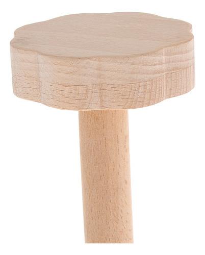 1 pc sonajero maraca de madera para niños mano para