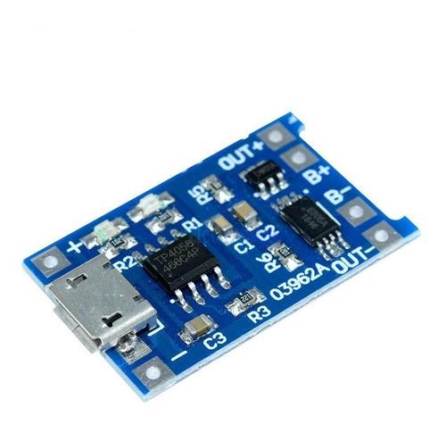 1 pç tp4056 5v 1a carregador proteção baterias lítio 4.2v