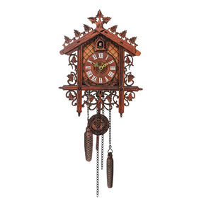 1 Pcs Retro Vendimia Madera Reloj De Pared Cuco Colgante Art