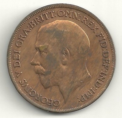 1 penny 1920 - inglaterra - george v