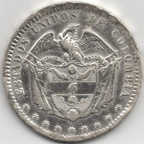 1 peso 1867 bogotá estados unidos de colombia