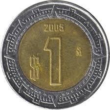 1 peso del 2005