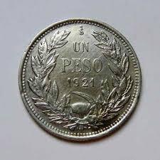 1 pesos   chilenas 1921