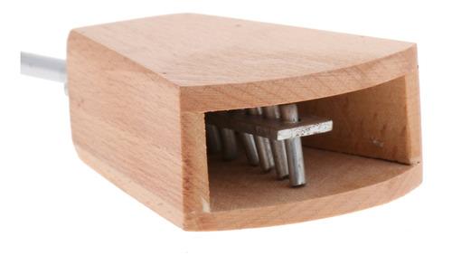 1 pieza badajo de madera castañuelas para juguete