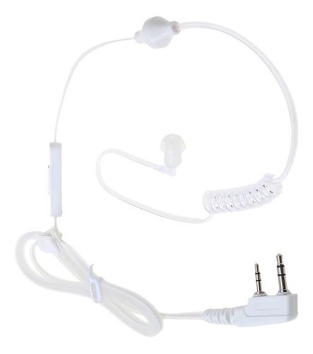 1 pieza de auriculares con 2 vías ptt con mic compatible