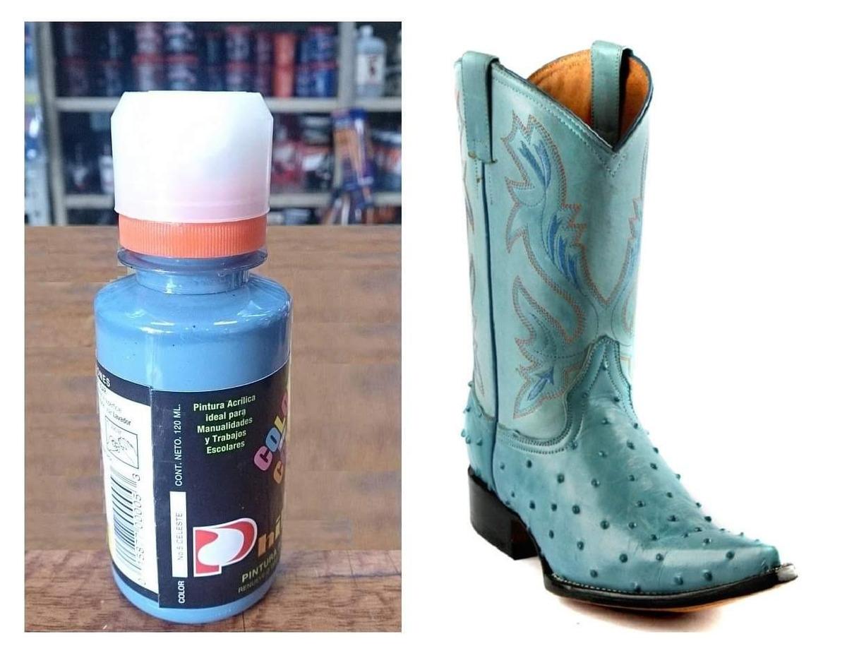 5d788fa2a 1 Pintura Para Zapatos Piel Vinyl Plastico 120ml Celeste - $ 260.00 ...