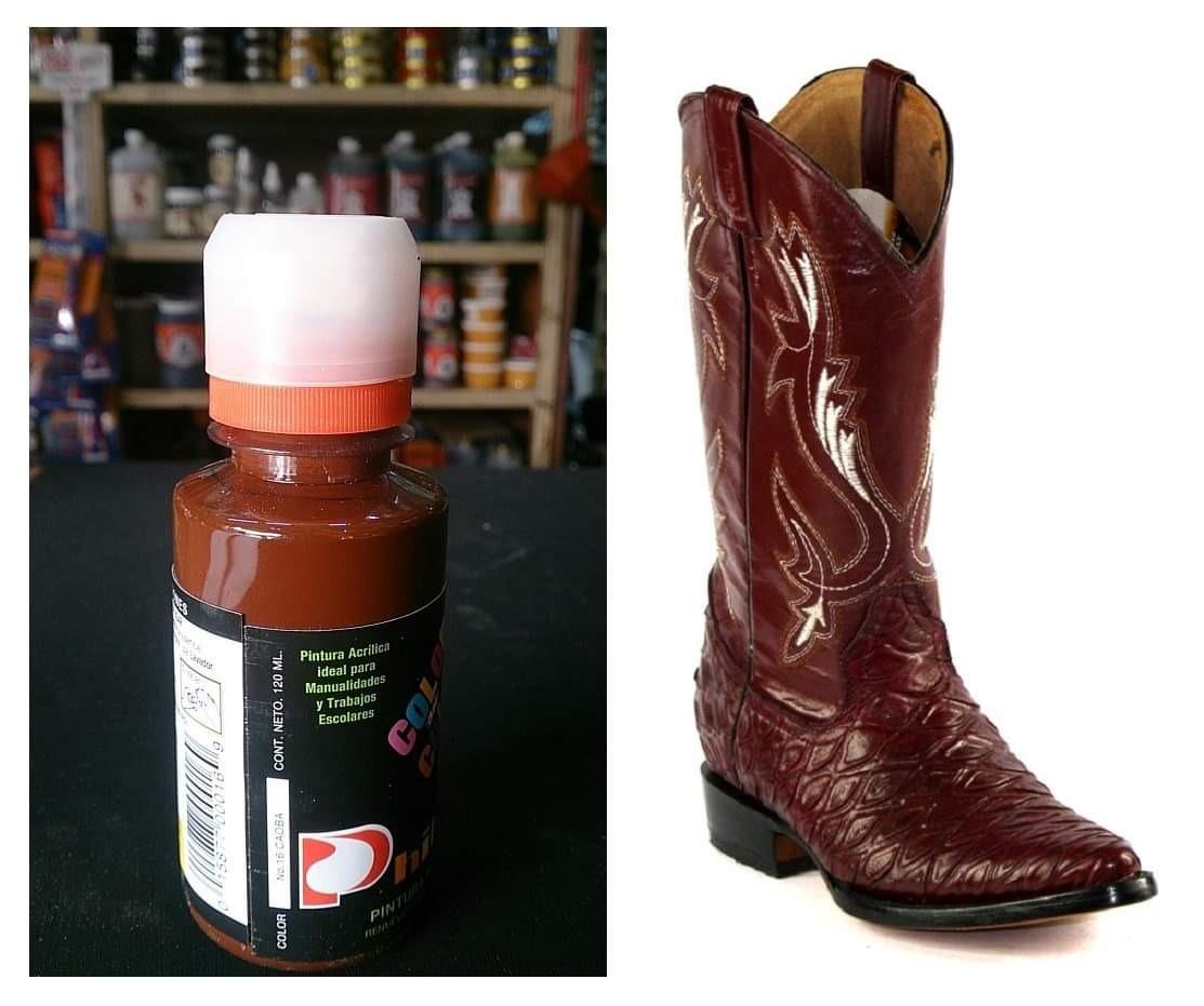 c0abaa54 1 pintura para zapatos piel vinyl plastico 120ml color caoba. Cargando zoom.