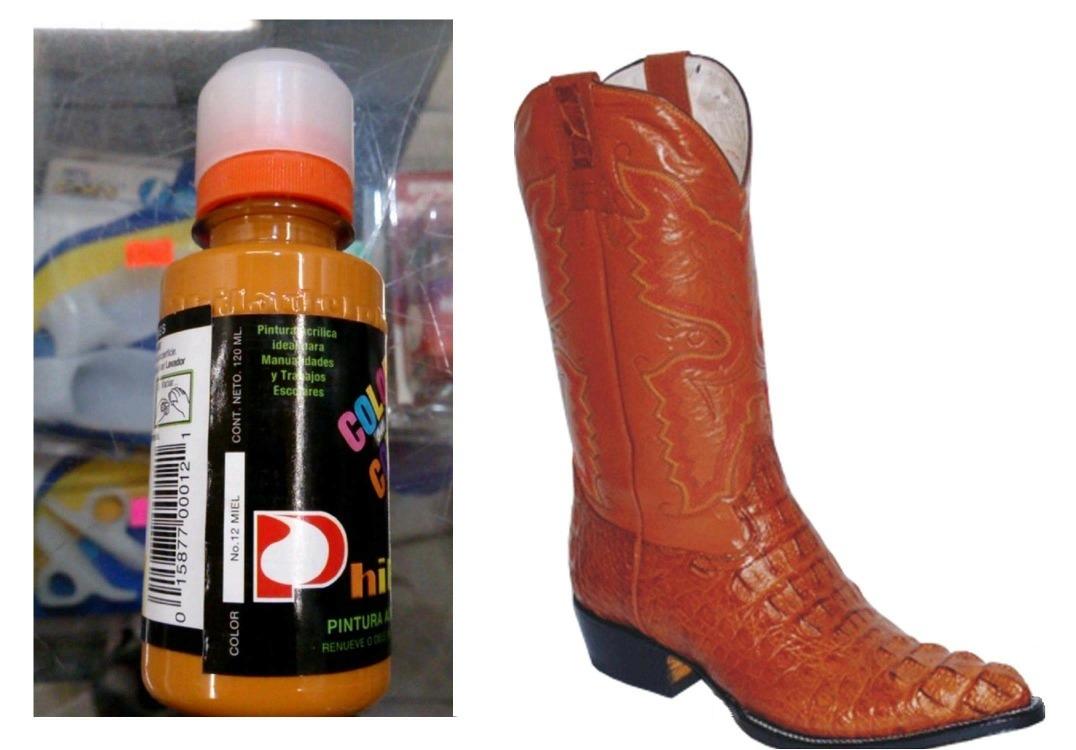 ba8c5b7b4 1 Pintura Para Zapatos Piel Vinyl Plastico 120ml Color Miel ...