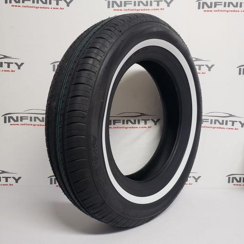 1 pneu 165/80 r15 faixa branca aro 15 fusca kombi nankang