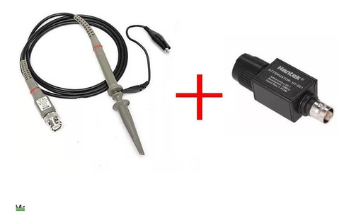 1 ponta de prova para osciloscópio  x1 x10 +  atenuador 20:1