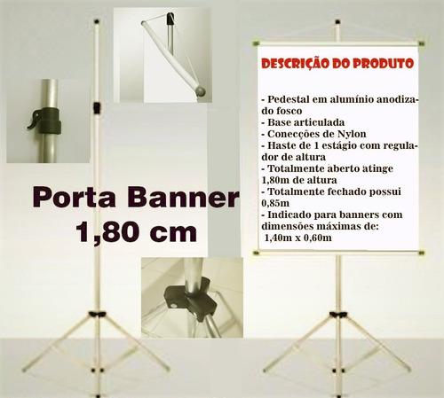 1 porta banner 1,80m tripé suporte p/ comunicação visual