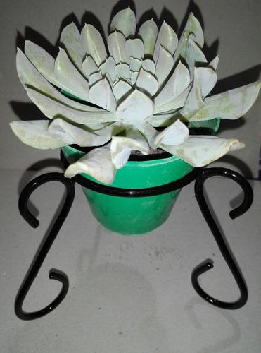 1 porta maceta nro8 hierro ideal souvenir regalo cactus