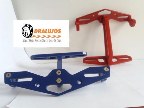 1 portaplaca de lujo moto universal soporte para direccional