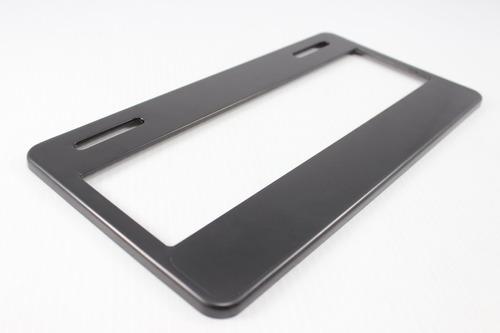 1 portaplacas liso personalizable 31x16 alta calidd plastico