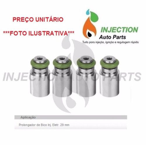 1 prolongador bico injetor iwp bosch material anticorrosivo