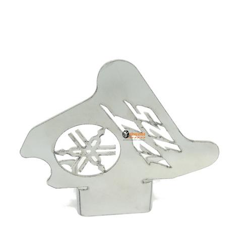 1 protector de mordaza/caliper en acero para yamah dt 125