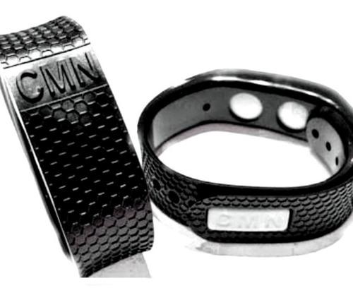 1 pulseira magnética cmn 2 infravermelho +2 imãs 2700 gauss