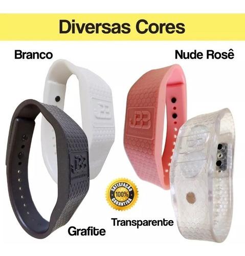 1 pulseira magnética - rosa, pink, branca, transparente