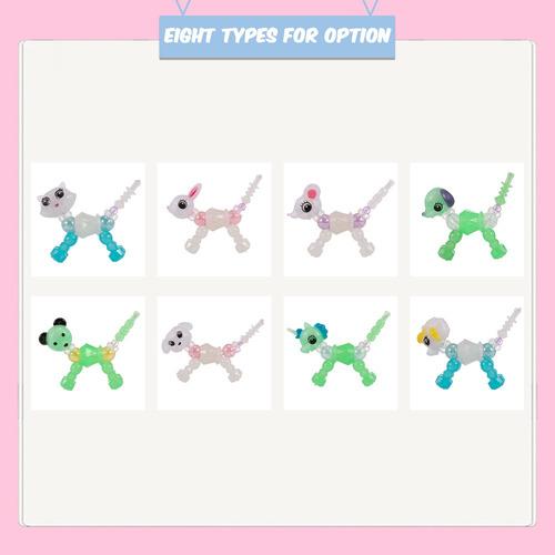 1 pulsera luminosa coleccionable de animales trenzados con d