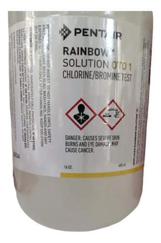 1 pz ortotolidina medir cloro alberca oto reactivo 480ml
