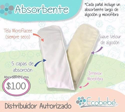 1 pza absorbente extra ecobebé