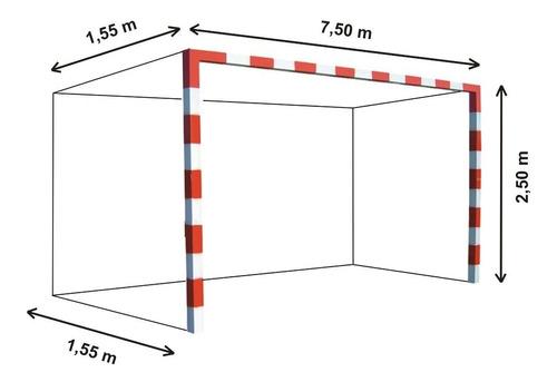 1 red arco futbol 11 profesional 7,5 x 2,5m cajon 1,5m afa - resiste agua y sol - stock de redes