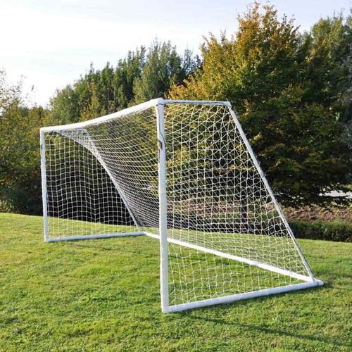 1 red arco futbol profesional 7,5x2,5.m cajon cuerda 2,8.mm