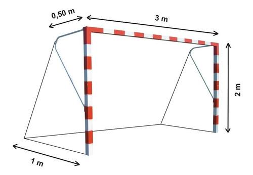 1 red arco papi futbol infantil familiar 3x2m rombo15cm2,3mm