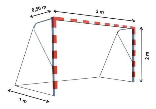 1 red arco papi futbol salon chico 3 x 2 m polietileno 2,3mm - resistente sol y lluvia - hay stock