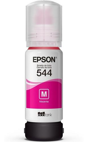 1 refil tinta epson t544 original l3110 l3150 - lacrado