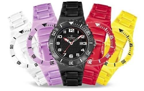 23cd3eb8a0a 1 Relógios Champion Troca Pulseira C 2 Pulseiras Colorido - R  24