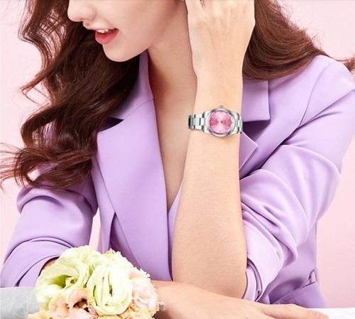 #1 reloj petit diamond dama mujer ctra agua acero inoxidable