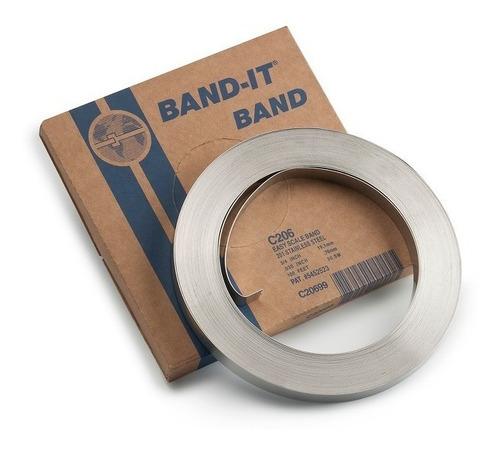 1 rollo fleje de acero inoxidable band-it 201 de 1/2 pulgada