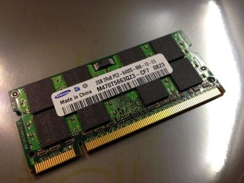 1 samsung laptop ram memoria 2gb ddr2 pc2-6400 800mhz sodimm