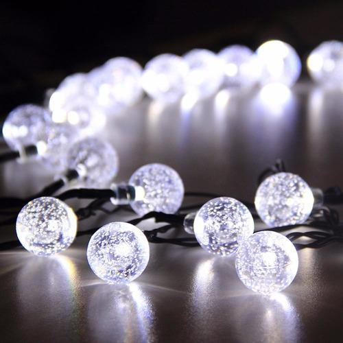 1 serie de luces led solar de 5 mts 30 leds