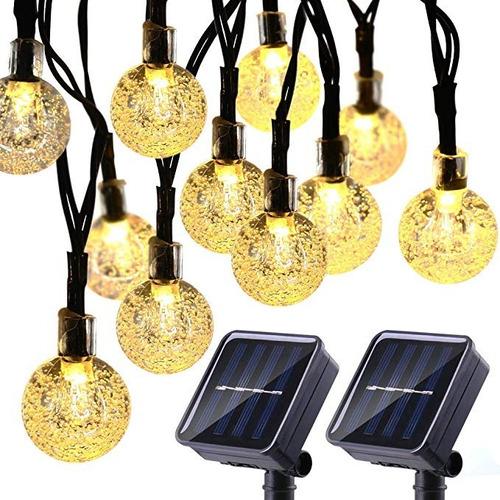1 serie solar leds de 5 m 30 leds