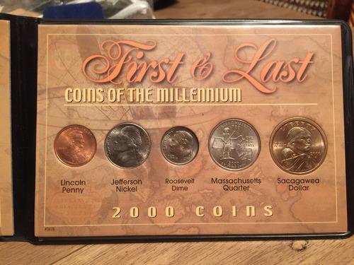 1 set con 10 monedas de coleccion u.s.a. años 1999 y 2000
