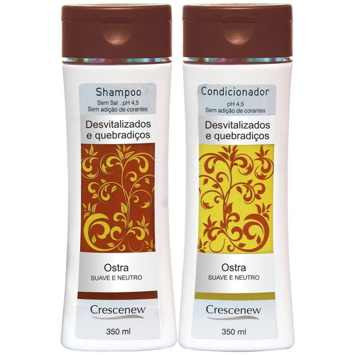 1 shampoo e 1 condicionador ostra com queratina cabelo