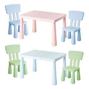 Niños Plástico 1 Mesa Símil Sillas Ikea Y Chicos Infantil Y7f6mbgIvy