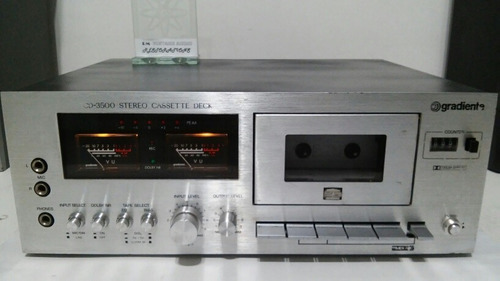 #1 tape deck gradiente cd3500 toca fitas k7 restaurado 100%