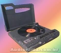 #1 toca disco som 3x1 tape deck fita k7 rádio polyvox 100%ok