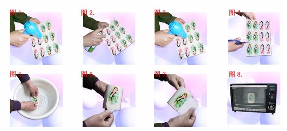 1 Unid Papel Decalque Water Slide Tradicional R 15 00