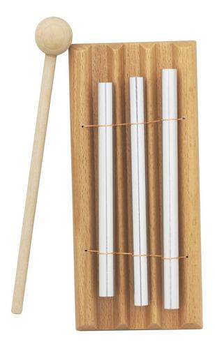 1 unid percusión de madera tres bar chime percusión 3 toner