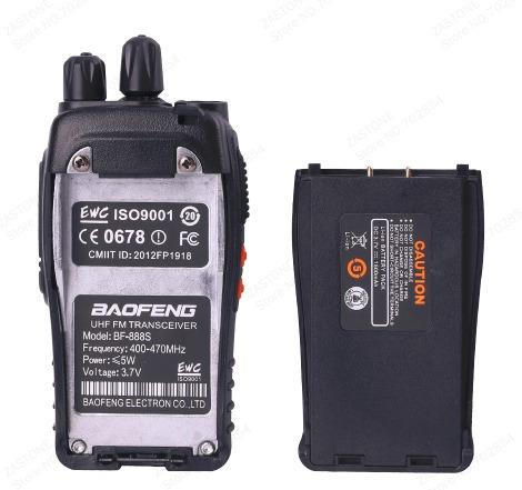 1 unidad radiotelefono baofeng bf-888s 2vias gold importador
